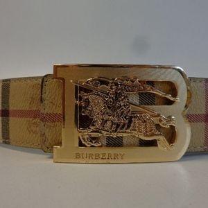 Authentic Plaid Burberry Belt